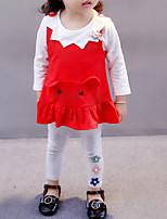 Недорогие -малыш Девочки Однотонный Рукав до локтя / Длинный рукав Набор одежды