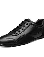 cheap -Men's Comfort Shoes Nappa Leather Spring & Summer Sneakers Black