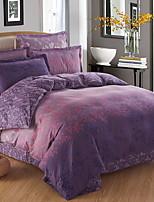 cheap -Duvet Cover Sets Geometric 100% Cotton Reactive Print 4 Piece