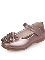 cheap -Girls' Shoes PU(Polyurethane) Fall & Winter Flower Girl Shoes Flats Walking Shoes Buckle for Kids White / Pink / Champagne