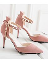 preiswerte -Damen Schuhe PU Frühling Komfort / Pumps High Heels Stöckelabsatz Schwarz / Beige / Rosa