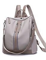 cheap -Women's Bags Nylon / PU(Polyurethane) Backpack Zipper Black / Gray