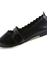cheap -Women's Shoes PU(Polyurethane) Summer Comfort Flats Flat Heel Pointed Toe Black / Beige