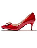 baratos -Mulheres Sapatos Couro Ecológico Primavera Verão Plataforma Básica Saltos Salto Agulha Dedo Apontado Preto / Amarelo / Vermelho