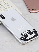 abordables -Coque Pour Apple iPhone X / iPhone 8 Plus Motif Coque Panda Flexible TPU pour iPhone X / iPhone 8 Plus / iPhone 8