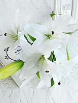 Недорогие -Искусственные Цветы 1 Филиал Односпальный комплект (Ш 150 x Д 200 см) Стиль Лилии Букеты на стол