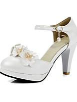 preiswerte -Damen Schuhe PU Frühling / Herbst Komfort / Pumps High Heels Stöckelabsatz Weiß / Rosa / Hellblau