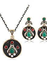 cheap -Women's Retro / Stylish Jewelry Set - Creative Stylish, European Include Drop Earrings / Necklace Black For Wedding / Daily
