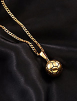 cheap -Men's Cuban Link Pendant Necklace / Chain Necklace - Stainless Ball European, Trendy, Hip-Hop Cool Gold 60 cm Necklace Jewelry 1pc For Gift, Going out