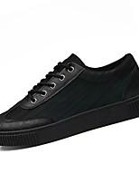 Недорогие -Муж. Полотно Весна Удобная обувь Кеды Черный / Черный / зеленый