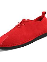 Недорогие -Муж. Искусственная кожа / Полиуретан Лето Удобная обувь Кеды Черный / Красный