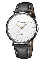 cheap -Geneva Women's Wrist Watch Quartz New Design Casual Watch Cool Leather Band Analog Casual Fashion Black / Brown - Black / White Black / Silver White / Brown One Year Battery Life