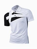 baratos -Homens Polo - Trabalho Estampa Colorida Colarinho de Camisa / Manga Curta