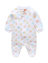 cheap -Baby Girls' Galaxy / Print Long Sleeve Romper