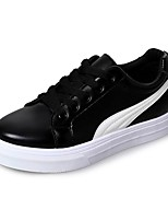 cheap -Women's Shoes Faux Leather Spring Comfort Sneakers Flat Heel Round Toe Black / Red / Green / Striped