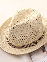 cheap -Men's Basic / Holiday Straw Hat - Color Block
