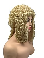 cheap -Synthetic Wig Wavy Blonde Middle Part Synthetic Hair Synthetic Blonde Wig Men's Mid Length Capless