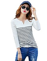 cheap -Women's Street chic T-shirt - Striped