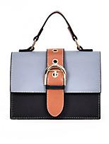 preiswerte -Damen Taschen PU Umhängetasche Knöpfe Geometrisch Blau / Weiß / Khaki