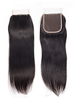 cheap -Yavida Brazilian Hair 4x4 Closure Straight Free Part Swiss Lace Human Hair All / Unisex Classic / Woven / Best Quality Christmas Gifts / Wedding Party / Military Ball