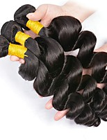 cheap -Indian Hair Loose Wave Gifts / Cosplay Suits / Natural Color Hair Weaves 3 Bundles 8-28 inch Human Hair Weaves Fashionable Design / Soft / Hot Sale Natural Black Human Hair Extensions Women's