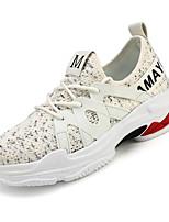 cheap -Men's PU(Polyurethane) / Elastic Fabric Summer Comfort Sneakers White / Black / Red