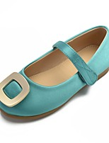 cheap -Girls' Shoes Satin Spring & Summer Ballerina / Flower Girl Shoes Flats Buckle / Magic Tape for Kids Green / Pink / Ivory / Wedding