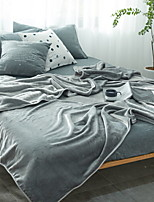 cheap -Coral fleece, Reactive Print Solid Colored / Simple Cotton / Polyester Blankets
