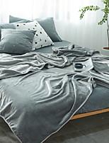 Недорогие -Коралловый флис, Активный краситель Однотонный / Простой Хлопок / полиэфир одеяла