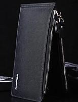 cheap -Men's Bags PU(Polyurethane) Wallet Zipper Blue / Black / Coffee