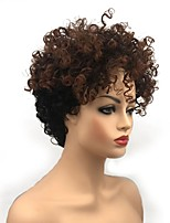 cheap -Synthetic Wig Curly Layered Haircut Synthetic Hair Synthetic Light Brown Wig Women's Short Capless