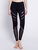 cheap -Women's Sporty Legging - Striped High Waist