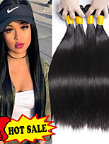 cheap -4 Bundles Indian Hair Straight Human Hair Natural Color Hair Weaves / Extension 8-28 inch Human Hair Weaves Machine Made New Arrival / 100% Virgin Natural Human Hair Extensions Women's