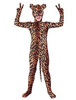 abordables -Disfraces Zentai de Texturas / Disfrace de Cosplay Animal Zentai Disfraces de Cosplay Marrón Diseño en Piel Animal Licra Spándex / Elástica Unisex Halloween / Carnaval / Día del Niño