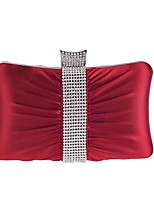 cheap -Women's Bags Polyester Evening Bag Crystals / Solid Floral Print Red / Purple / Silver