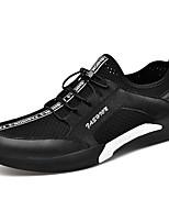 cheap -Men's Denim Summer Comfort Sneakers Running Shoes White / Black