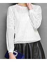 economico -T-shirt Per donna Essenziale / Moda città Traforato, Tinta unita