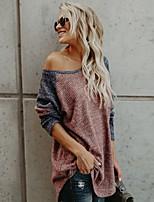 cheap -Women's Street chic T-shirt - Color Block