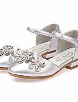 Недорогие -Девочки Обувь Полиуретан Весна & осень Удобная обувь / Крошечные Каблуки для подростков Обувь на каблуках для Серебряный / Розовый