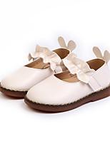 Недорогие -Девочки Обувь Полиуретан Наступила зима Детская праздничная обувь На плокой подошве Для прогулок Пряжки для Дети Белый / Черный / Розовый
