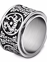 cheap -Men's Vintage Style / Stylish Ring - Titanium Steel Dragon, Faith Unique Design, Vintage, European 8 / 9 / 10 Silver For Street / Festival