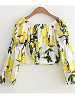 economico -Camicia Per donna Essenziale Con stampe, Frutta
