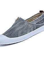 Недорогие -Муж. Деним Лето Удобная обувь Мокасины и Свитер Бежевый / Серый / Синий