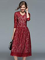 cheap -Maxlindy Women's Vintage / Street chic A Line Dress - Floral