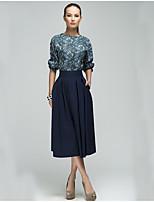 abordables -Mujer Conjunto - Un Color Vestidos
