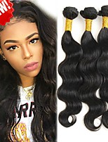 cheap -3 Bundles Indian Hair Body Wave Human Hair Gifts / Natural Color Hair Weaves / Tea Party Favors 8-28 inch Human Hair Weaves Soft / Cool / Thick Natural Color Human Hair Extensions Women's
