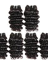 Недорогие -6 Связок Малазийские волосы Крупные кудри Необработанные / Натуральные волосы Подарки / Косплей Костюмы / Человека ткет Волосы 8-28 дюймовый Естественный цвет Ткет человеческих волос