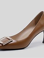 abordables -Femme Chaussures Cuir Nappa Printemps été Escarpin Basique Chaussures à Talons Talon Aiguille Bout carré Noir / Gris / Jaune / Soirée & Evénement