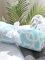 cheap -Coral fleece, Reactive Print Geometric Cotton / Polyester Blankets