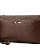 cheap -Men's Bags PU(Polyurethane) Clutch Zipper Black / Brown / Dark Brown